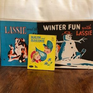 VTG set Lassie coloring books & Tiny Tales